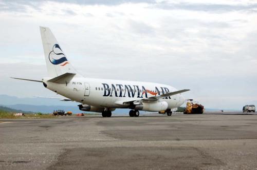 Batavia Air di bandara Bubung Luwuk